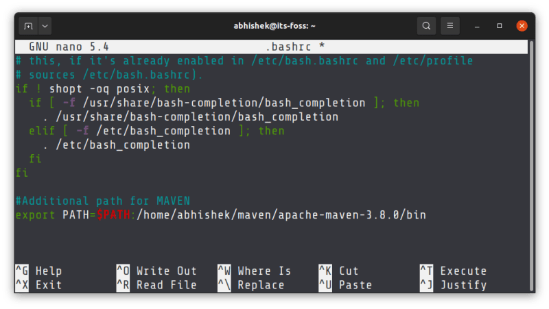 add directory to path linux